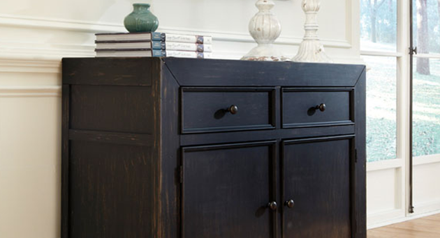 Home Storage | Gavelston Dark Wood Cabinet